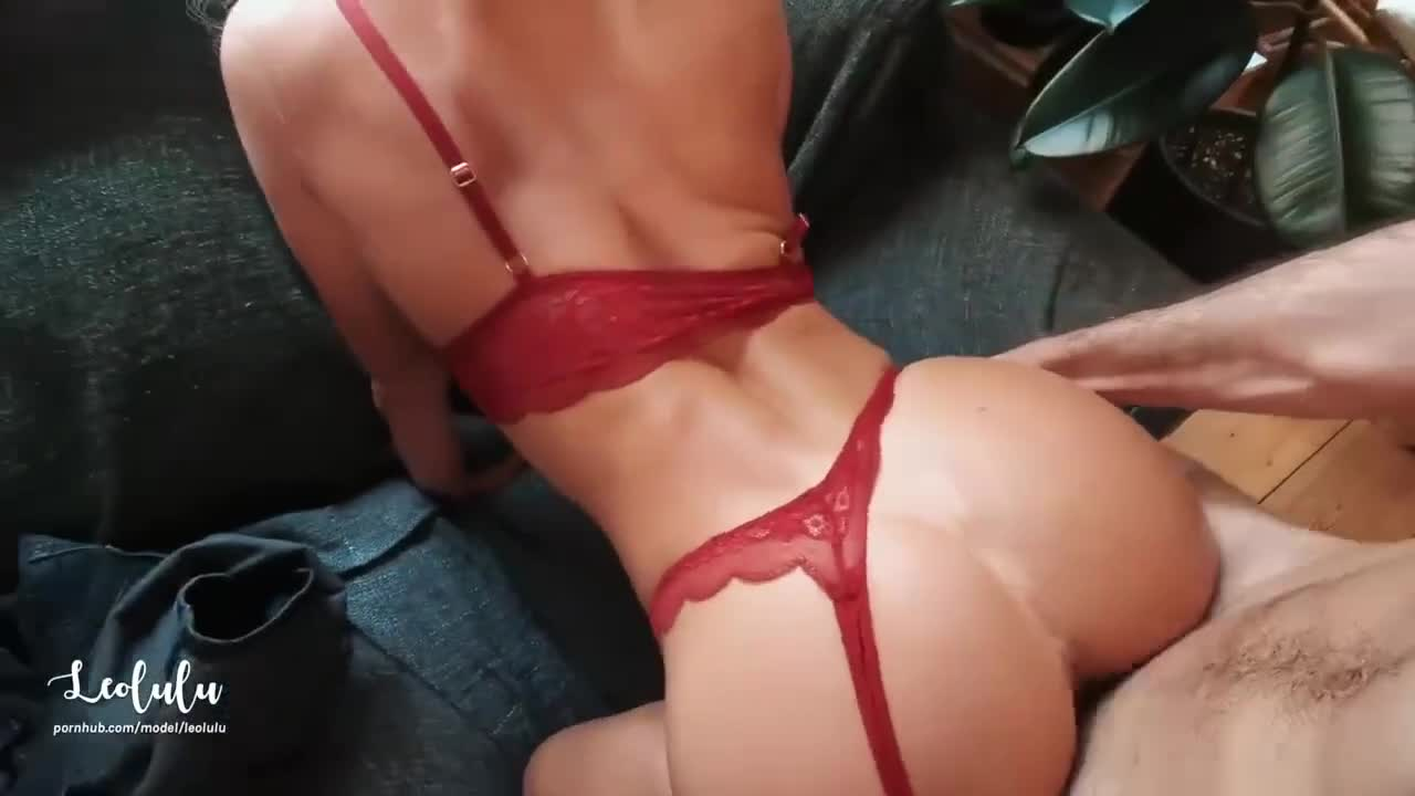 Порно В Красном Белье С Большими